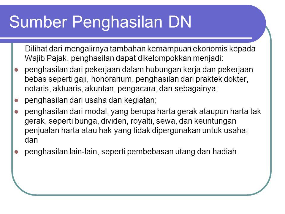 Penghasilan Luar Negeri penghasilan yang berasal dari luar negeri dengan nama dan dalam bentuk apa pun harus dilaporkan di Indonesia.