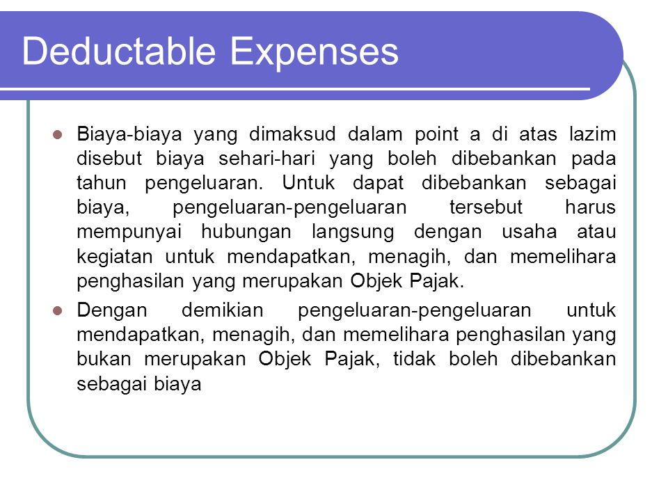 Deductable Expenses b.