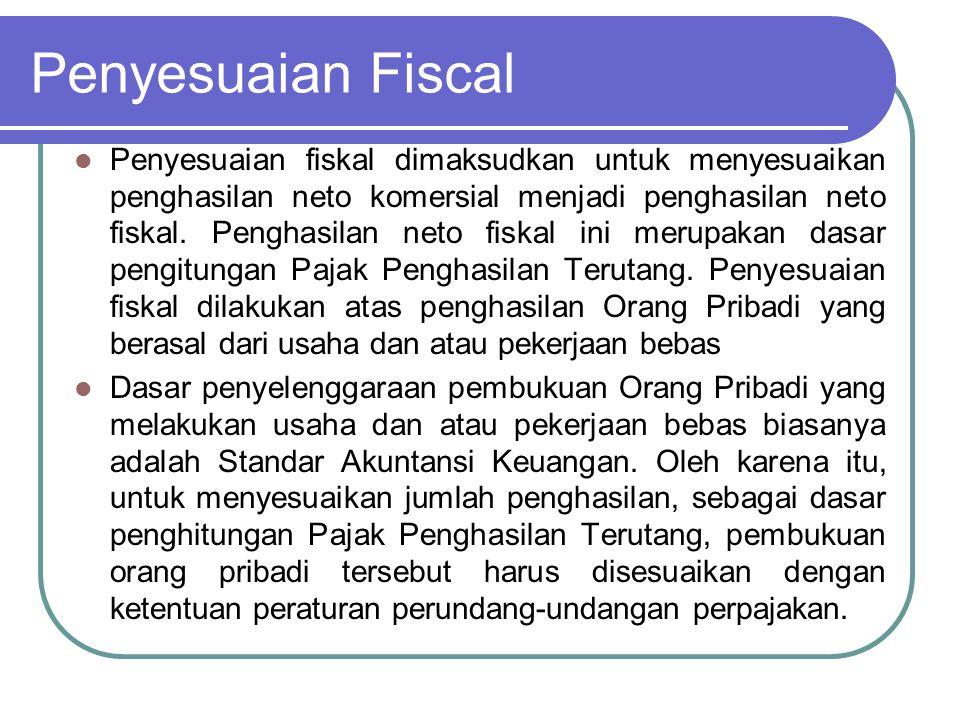 Koreksi Fiskal Koreksi yang sifatnya menambah besarnya penghasilan kena Pajak Koreksi Fiskal Positif Koreksi yang sifatnya mengurangi besarnya penghasilan kena Pajak Koreksi Fiskal Negatif