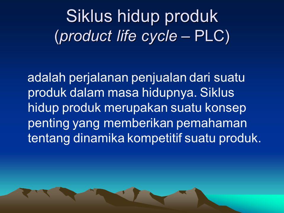 Siklus hidup produk (product life cycle – PLC) adalah perjalanan penjualan dari suatu produk dalam masa hidupnya. Siklus hidup produk merupakan suatu