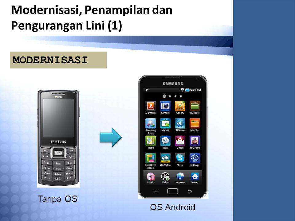 Modernisasi, Penampilan dan Pengurangan Lini (1) Tanpa OS OS Android MODERNISASI