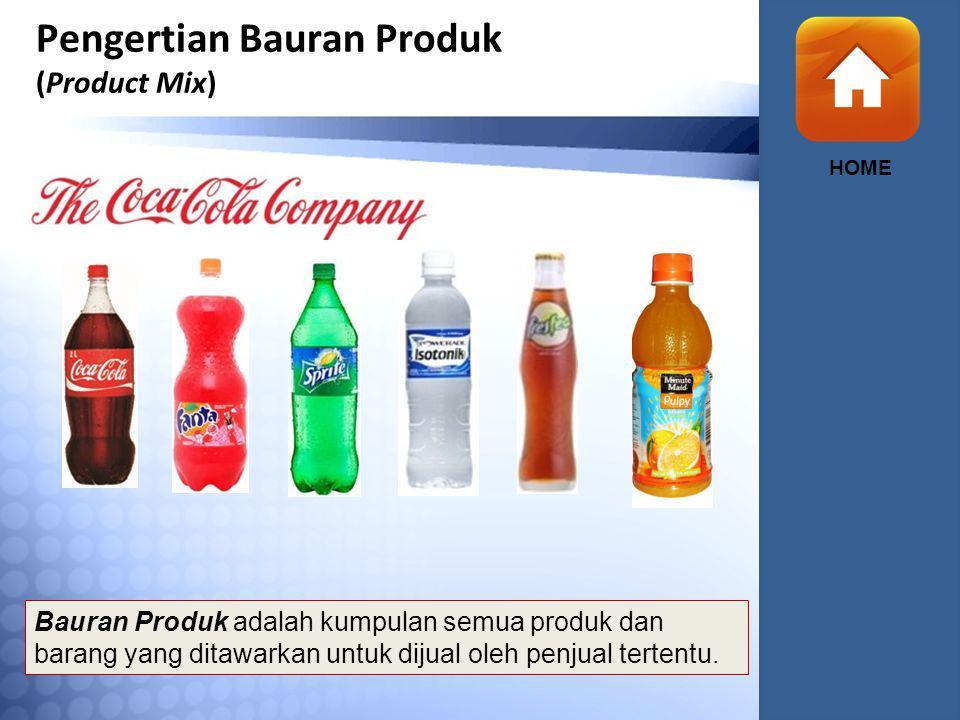 Pengertian Bauran Produk (Product Mix) HOME Bauran Produk adalah kumpulan semua produk dan barang yang ditawarkan untuk dijual oleh penjual tertentu.