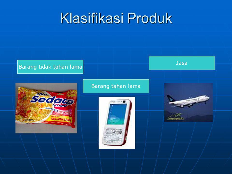 Klasifikasi Produk Barang Industri 1. Bahan Baku 2. Barang modal 3. Perlengkapan & Jasa Bisnis