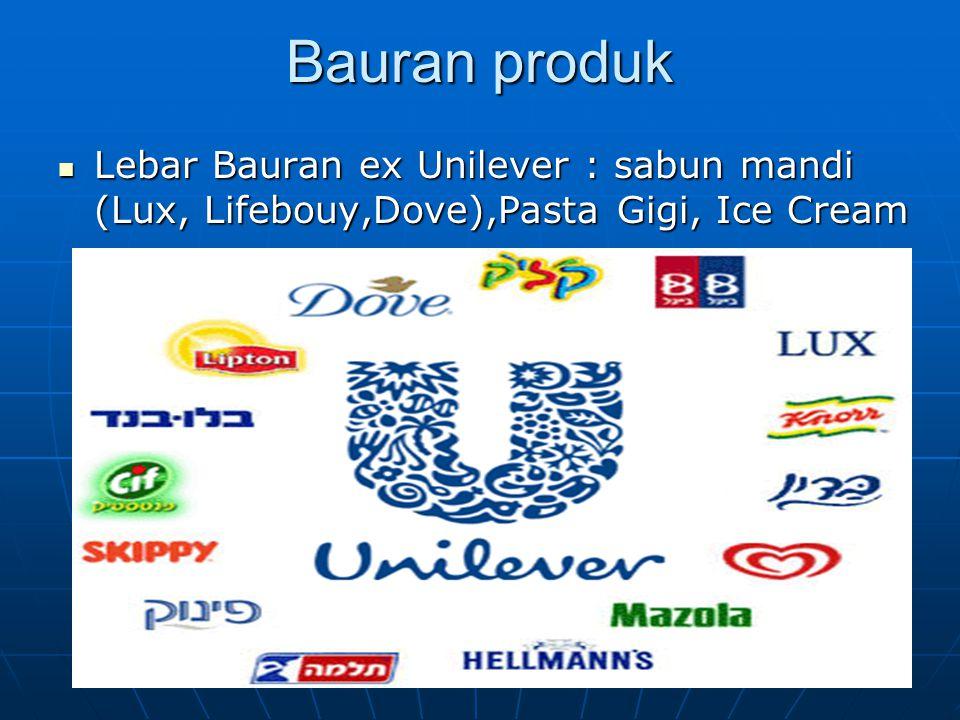 Lebar Bauran ex Unilever : sabun mandi (Lux, Lifebouy,Dove),Pasta Gigi, Ice Cream Lebar Bauran ex Unilever : sabun mandi (Lux, Lifebouy,Dove),Pasta Gigi, Ice Cream