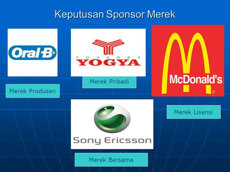 Keputusan Sponsor Merek Merek Produsen Merek Pribadi Merek Lisensi Merek Bersama