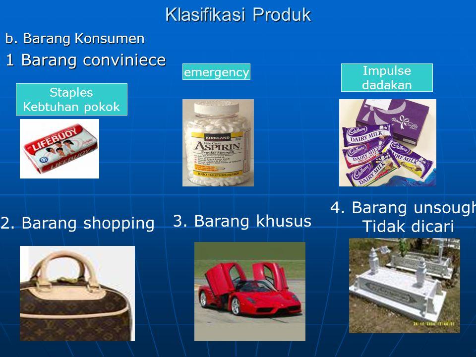 Klasifikasi Produk b.