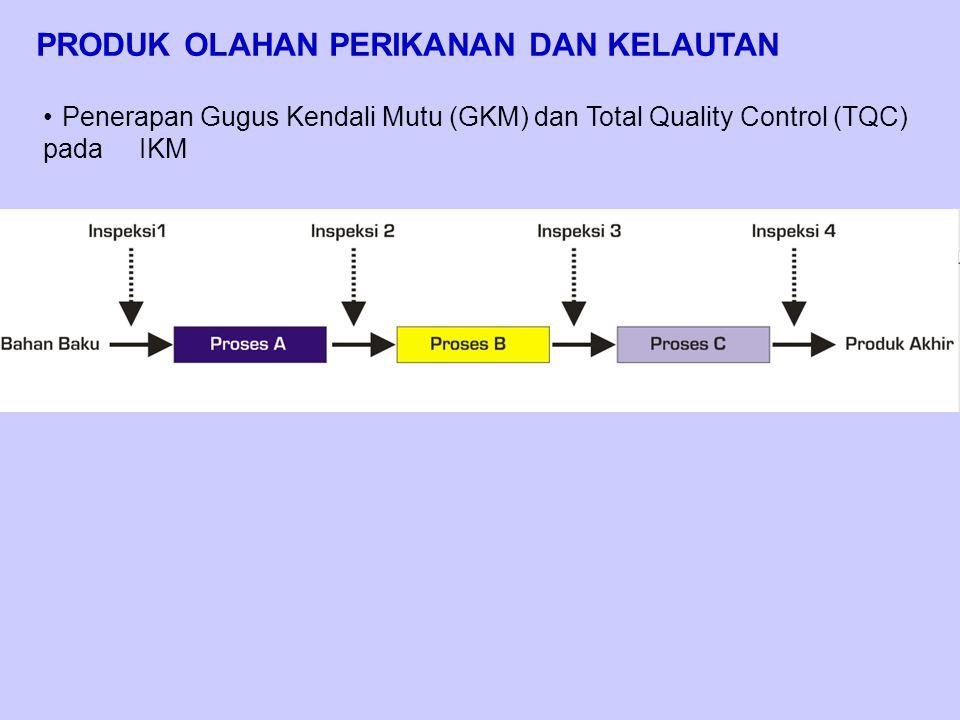 PRODUK OLAHAN PERIKANAN DAN KELAUTAN Penerapan Gugus Kendali Mutu (GKM) dan Total Quality Control (TQC) pada IKM