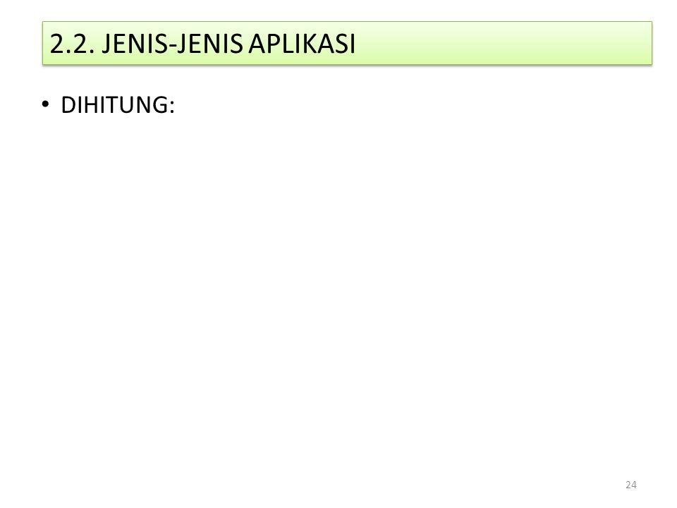 2.2. JENIS-JENIS APLIKASI DIHITUNG: 24