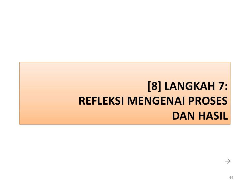 [8] LANGKAH 7: REFLEKSI MENGENAI PROSES DAN HASIL  44