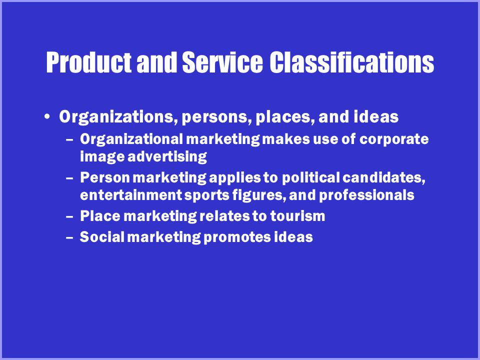 Product and Service Decisions Individual Product Product Line Product Mix Product attributes –Quality, features, style and design Branding Packaging Labeling Product support services Key Decisions