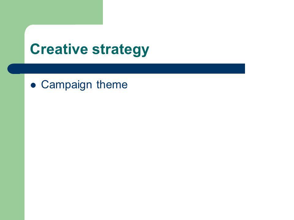 Creative strategy Campaign theme