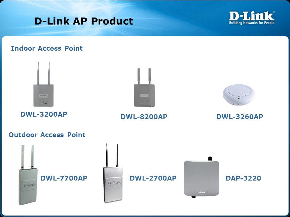 Indoor Access Point DWL-3200AP DWL-8200AP Outdoor Access Point DWL-2700APDWL-7700AP DWL-3260AP DAP-3220 D-Link AP Product