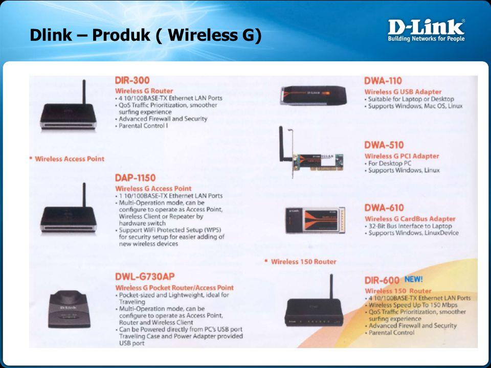 Dlink – Produk ( Wireless G)