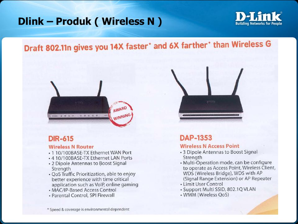 Dlink – Produk ( Wireless N )