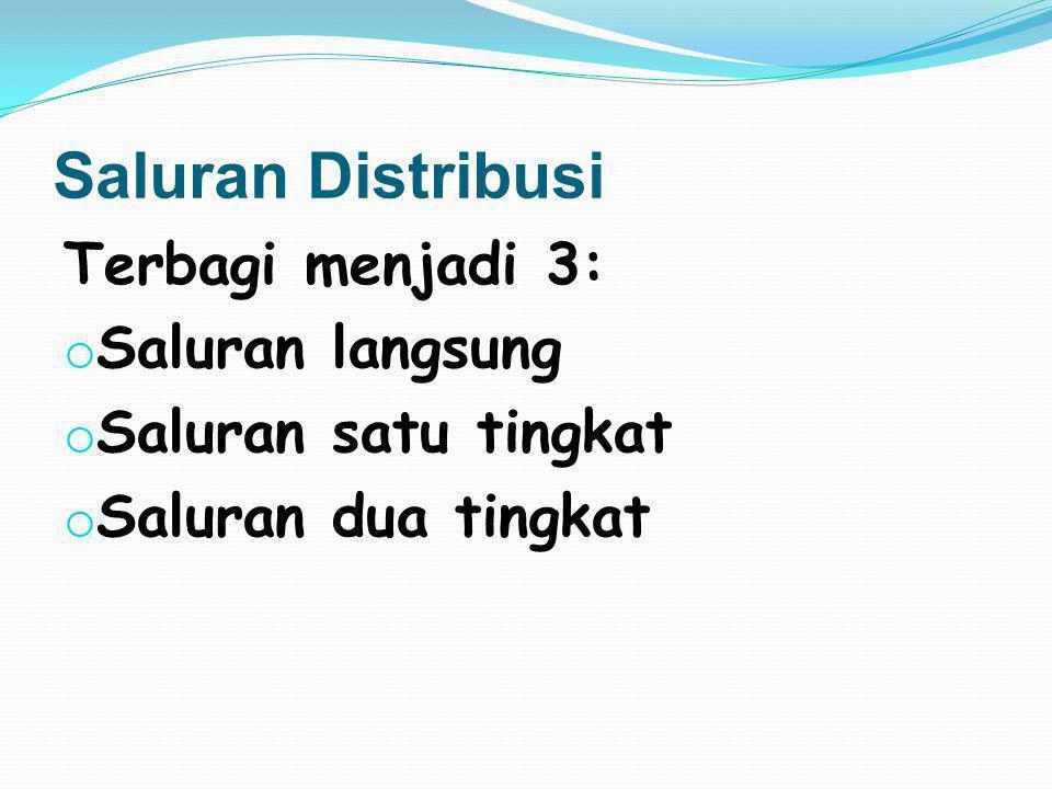 1. Memperlancar saluran saluran distribusi
