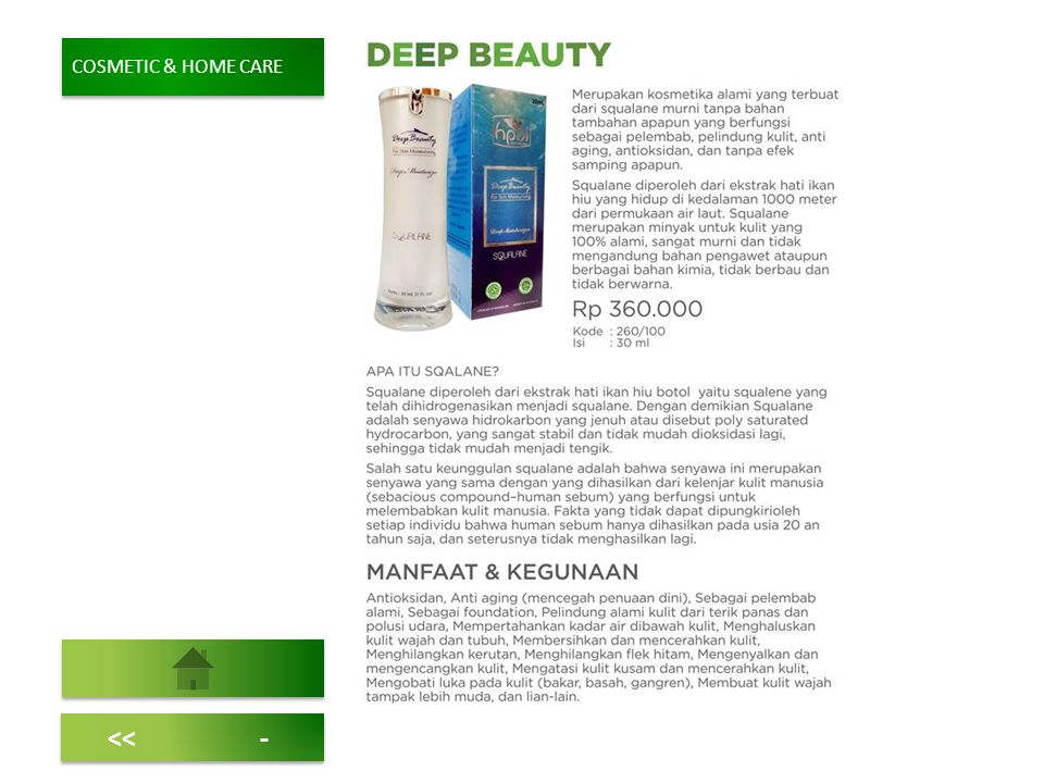 <<- COSMETIC & HOME CARE