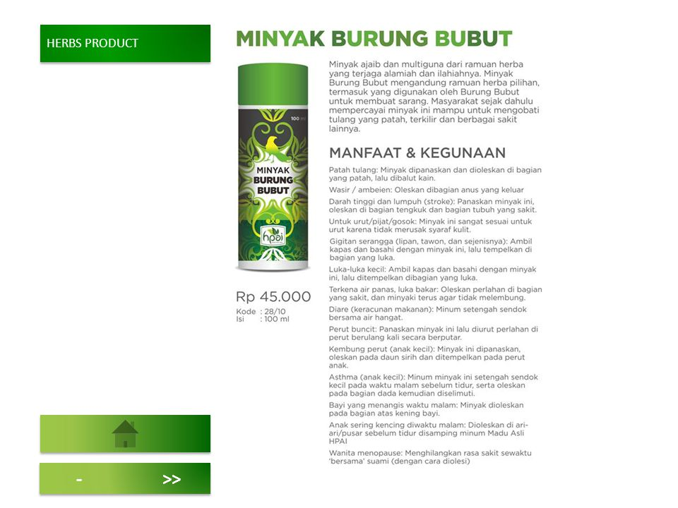 HERBS PRODUCT ->>