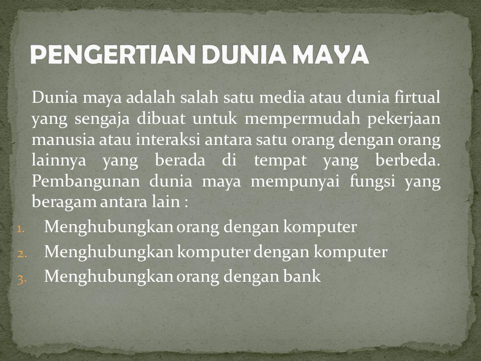 4.Menghubungkan orang dengan bank 5. Menghubungkan orang dengan orang 6.