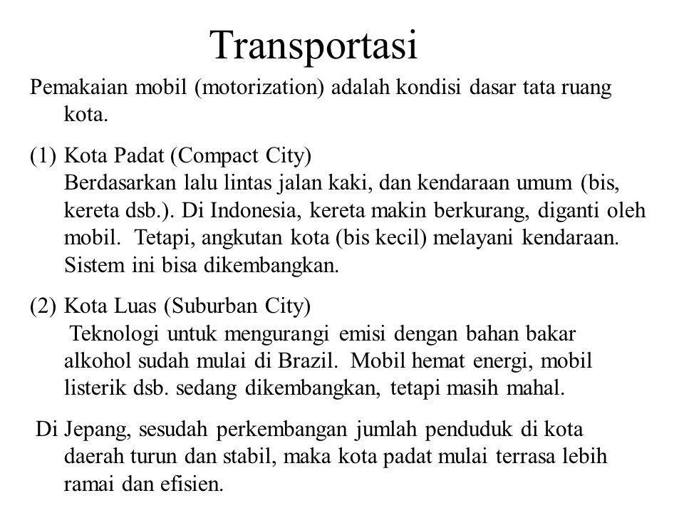 Transportasi Pemakaian mobil (motorization) adalah kondisi dasar tata ruang kota.