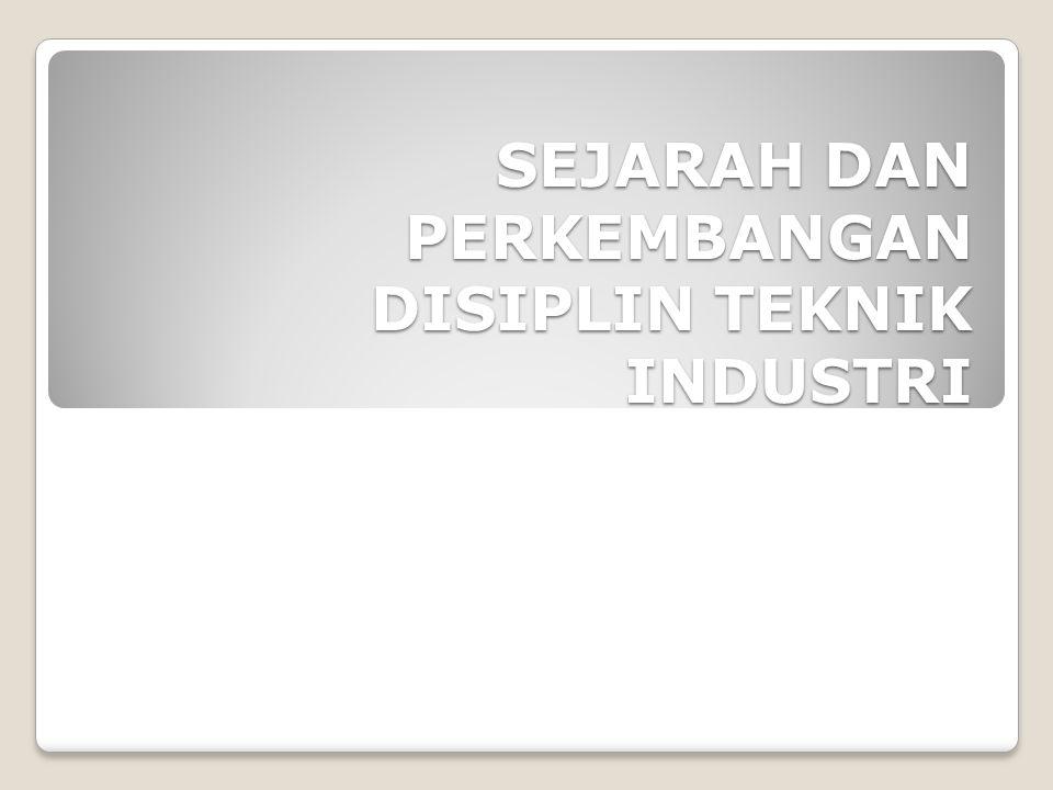 Unsur-unsur tersebut menjadi titik berat dari isi kurikulum pendidikan teknik Industri.