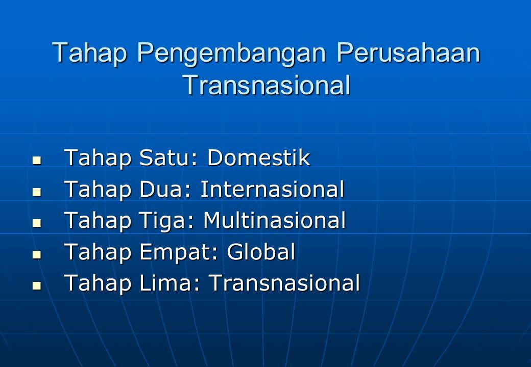 Tahap Pengembangan Perusahaan Transnasional Dr. Vanessa Gaffar, SE. Ak, MBA