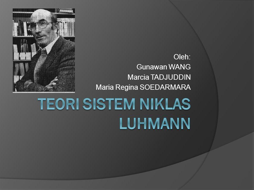 Kompleksitas Sistem menurut Luhmann  Sistem-sistem sosial membentuk dirinya sendiri dengan membedakan diri (self-differentiation) dari lingkungannya (environment).