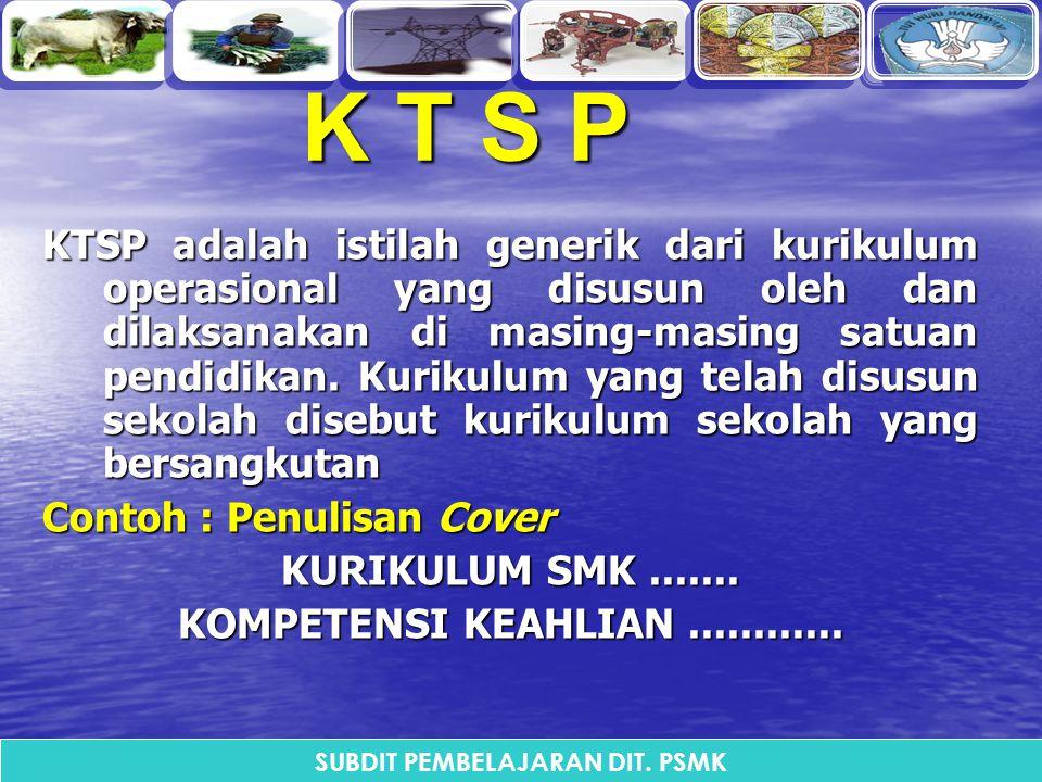 K T S PK T S PK T S PK T S P KTSP adalah istilah generik dari kurikulum operasional yang disusun oleh dan dilaksanakan di masing-masing satuan pendidi