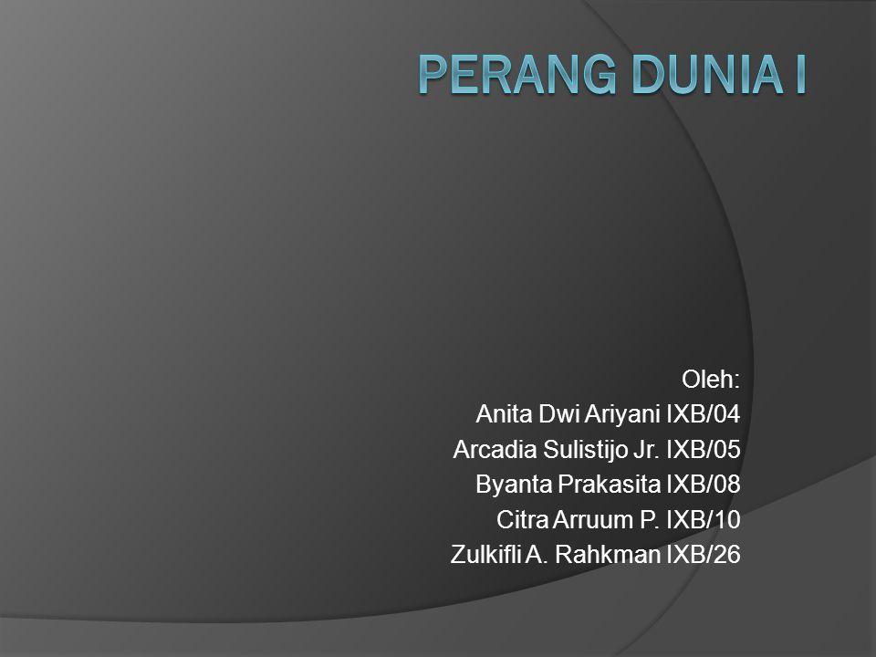Oleh: Anita Dwi Ariyani IXB/04 Arcadia Sulistijo Jr. IXB/05 Byanta Prakasita IXB/08 Citra Arruum P. IXB/10 Zulkifli A. Rahkman IXB/26