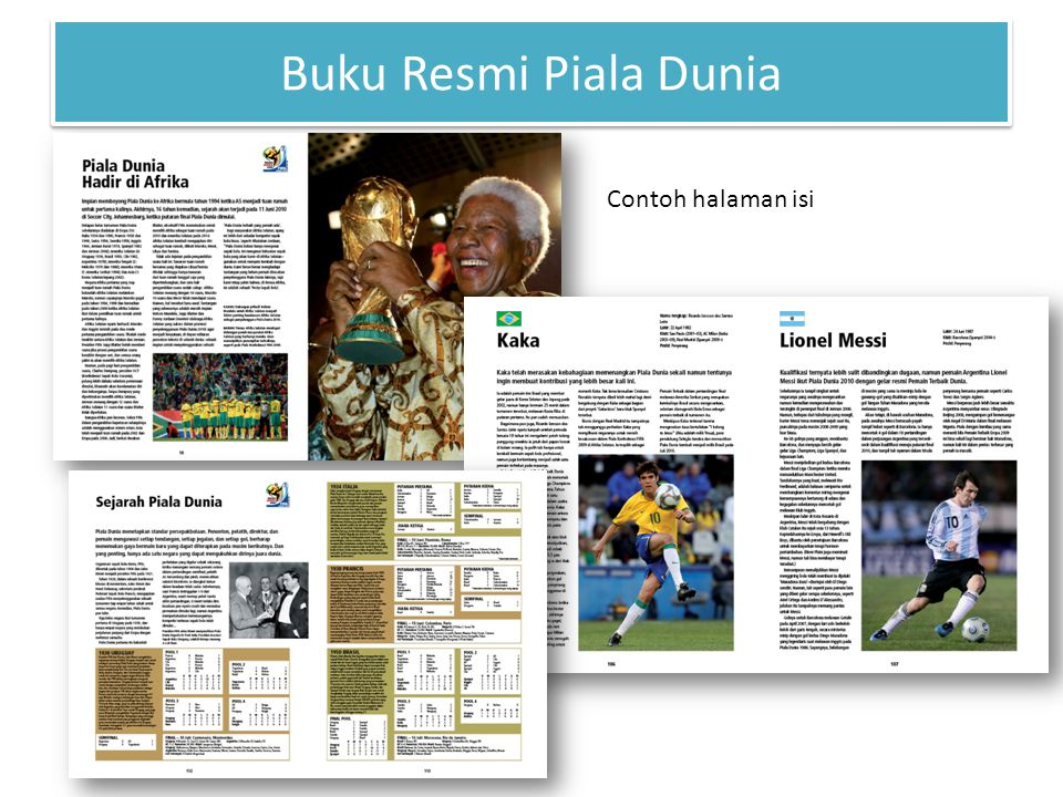 Contoh halaman isi Buku Resmi Piala Dunia