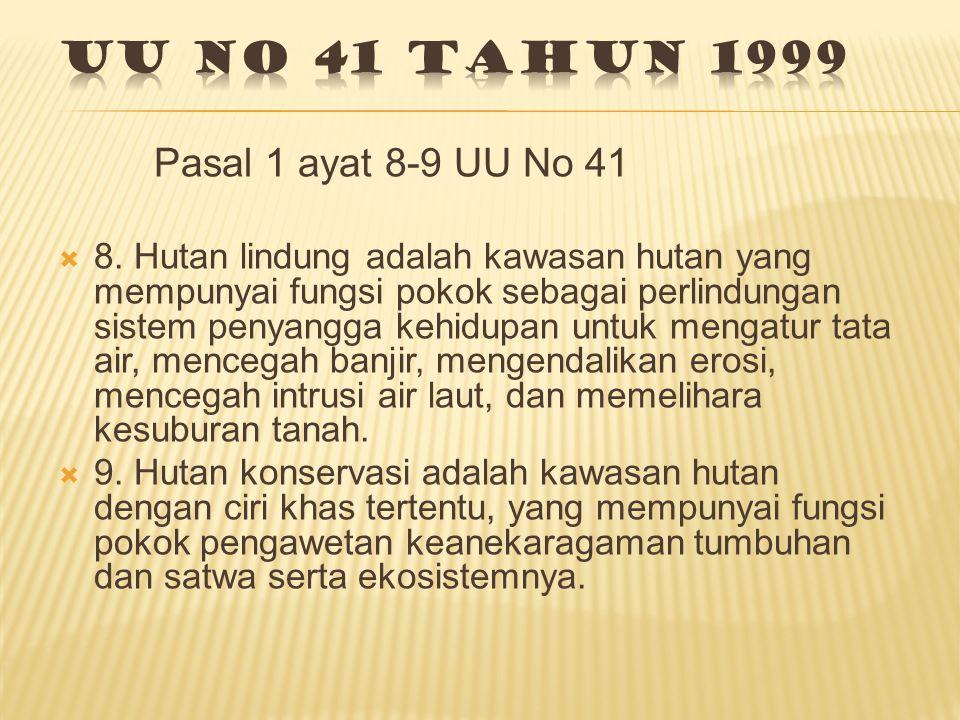 Pasal 1 ayat 8-9 UU No 41  8.