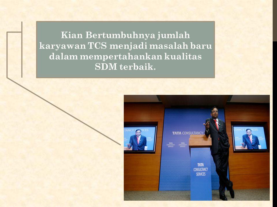 Kian Bertumbuhnya jumlah karyawan TCS menjadi masalah baru dalam mempertahankan kualitas SDM terbaik.
