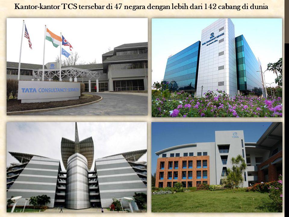 Kantor-kantor TCS tersebar di 47 negara dengan lebih dari 142 cabang di dunia