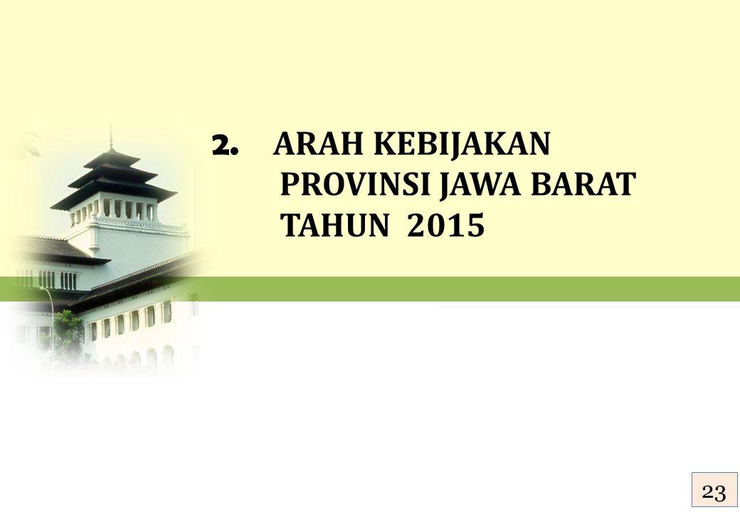 2. ARAH KEBIJAKAN PROVINSI JAWA BARAT TAHUN 2015 24 23