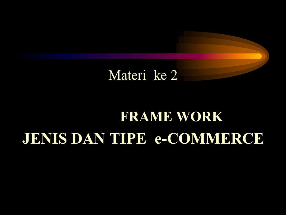 Materi ke 2 FRAME WORK JENIS DAN TIPE e-COMMERCE