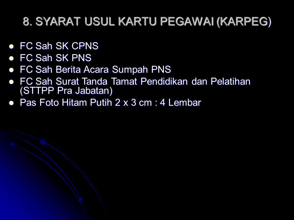 19.SYARAT USUL PENSIUN JANDA/DUDA/ANAK Mengisi blanko DPCP Mengisi blanko DPCP FC.