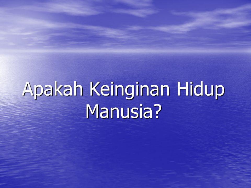 Apakah Keinginan Hidup Manusia?