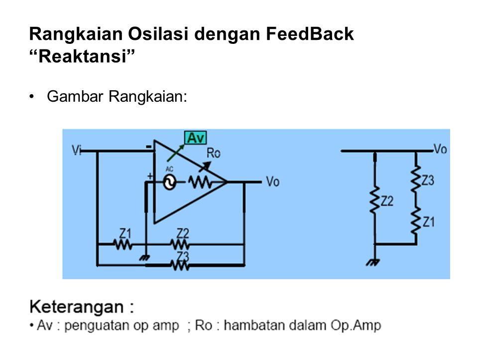 Rangkaian Osilasi dengan FeedBack Reaktansi Gambar Rangkaian: