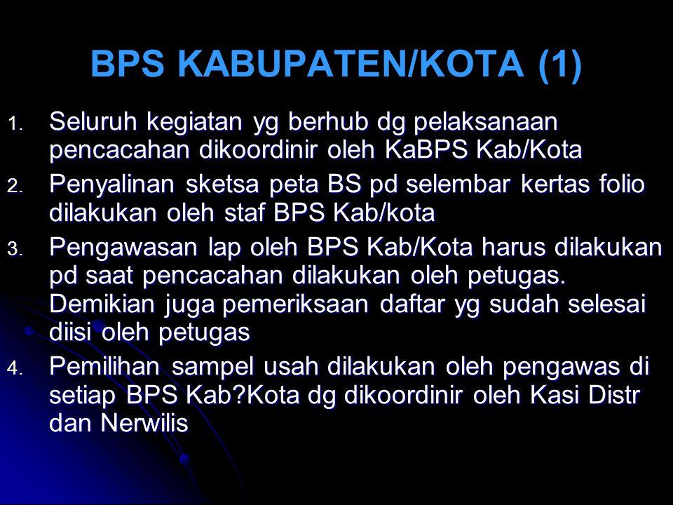BPS KABUPATEN/KOTA (1) 1.