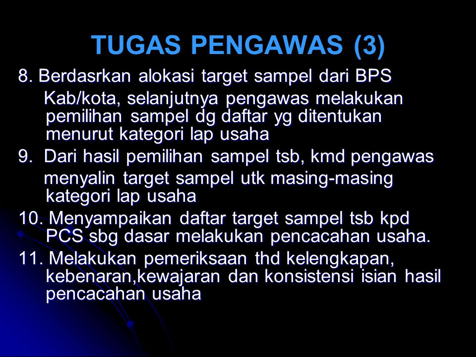TUGAS PENGAWAS (3) 8.