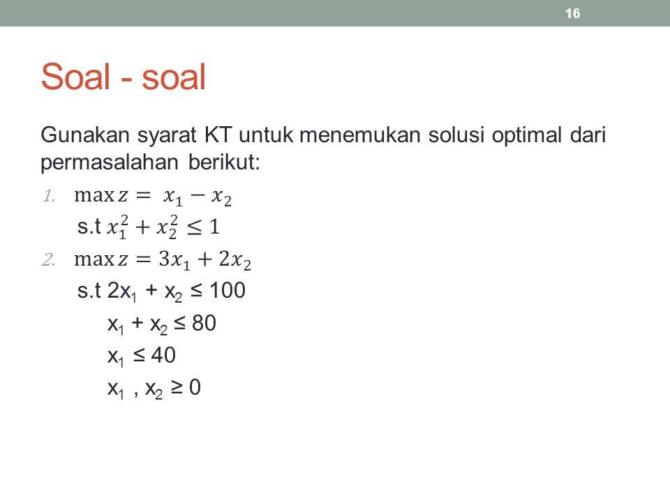Soal - soal 16