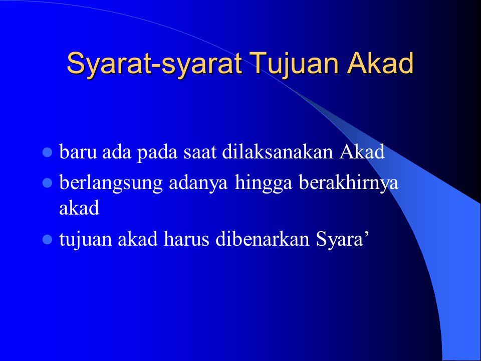 Syarat-syarat Obyek Akad halal menurut syara' bermanfaat (bukan merusak atau digunakan untuk merusak) dimiliki sendiri atau atas kuasa si pemilik dapa