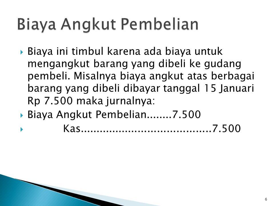 2.Pembayaran Pembelian akan diikuti pembayaran.