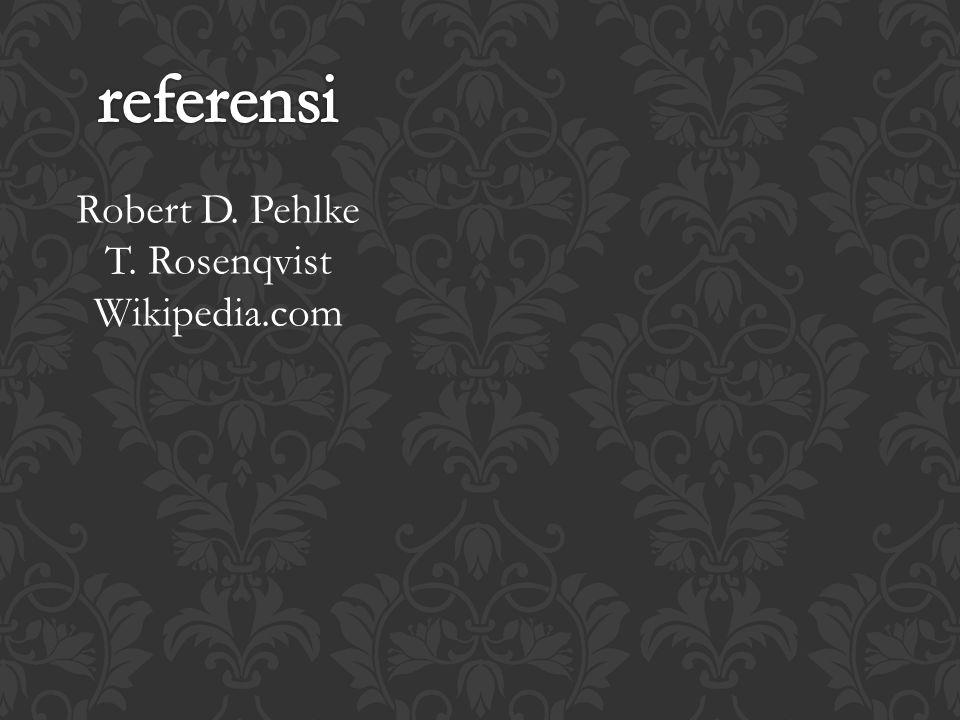 Robert D. Pehlke T. Rosenqvist Wikipedia.com