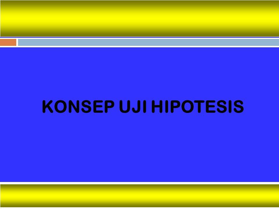 KONSEP UJI HIPOTESIS