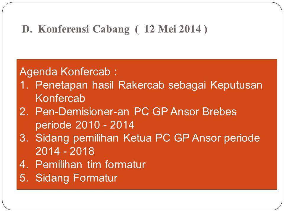 RENCANA Apel Banser tanggal 11 Mei 2014 pukul 10.00 WIB di Tegal / Brebes dan Oleh PW Diundur setelah Konferensi Wilayah 17 – 18 Mei 2014 ????