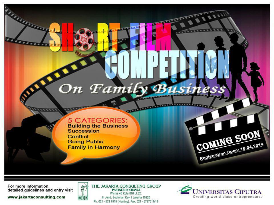 BACKGROUND Indonesian Family Business Short Film Competition adalah kompetisi film pertama yang bertemakan family business.