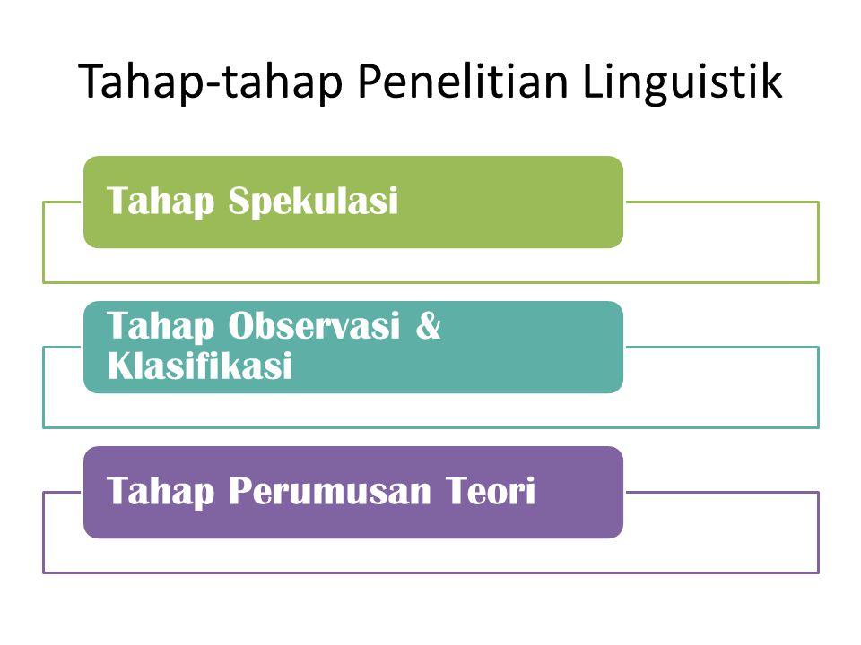 Tahap Spekulasi & Tahap Observasi & Klasifikasi Tahap Spekulasi Tahap dimana peneliti masih berspekulasi atau memperkirakan atau menduga atas fakta yang belum tentu benar.