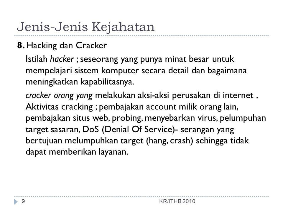 Kasus 1 : Nama Domain Mustika Ratu.com KR/ITHB 2010  Kasus Nama Domain (yang pertama di Indonesia ) pendaftaran nama Domain Name.