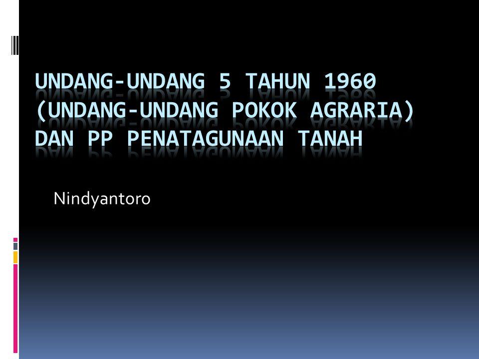 Hak penguasaan atas tanah Hak bangsa Indonesia Hak menguasai dari negara Hak ulayat masyarakat hukum adat Hak individual: a.