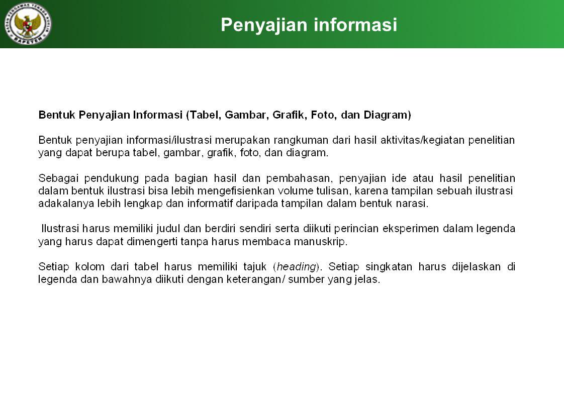 Penyajian informasi